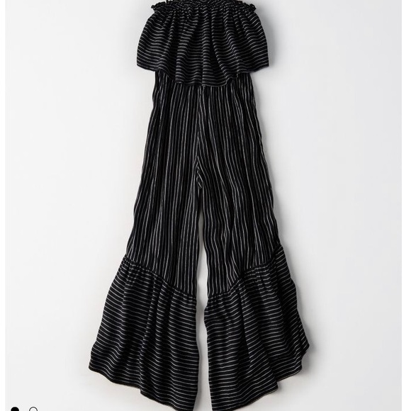 019e8acc79a AE ruffle strapless stripes jumpsuit. NWT. American Eagle Outfitters